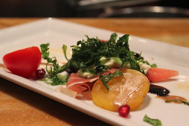 Late-season fruit and vegetable salad at BOKX 109, Newton, Mass.