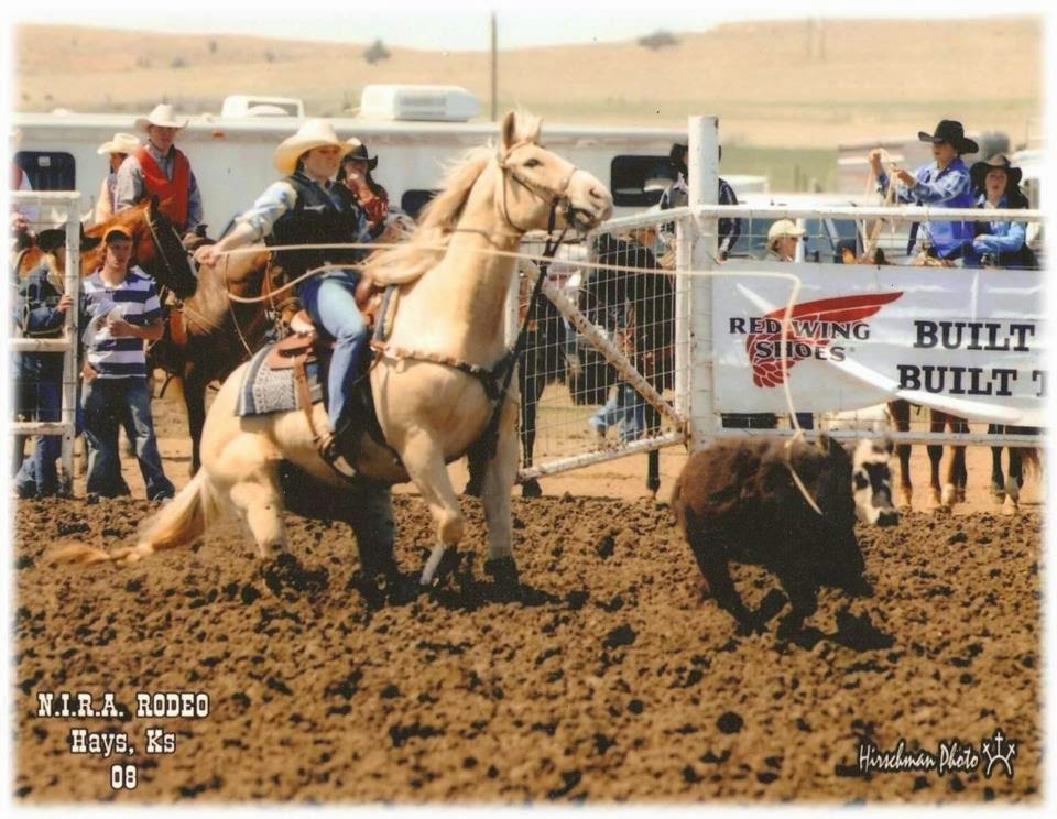 Breakaway roping at Hays, KS