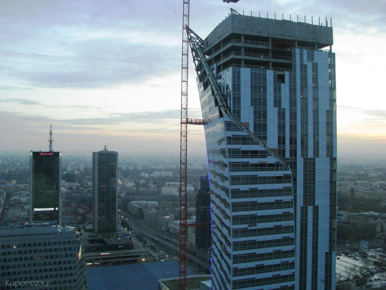 InterContinental Warszawa widok na apartamentowiec Złota 44