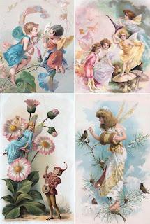 открытки: феи, эльфы, гномы, сказочные существа