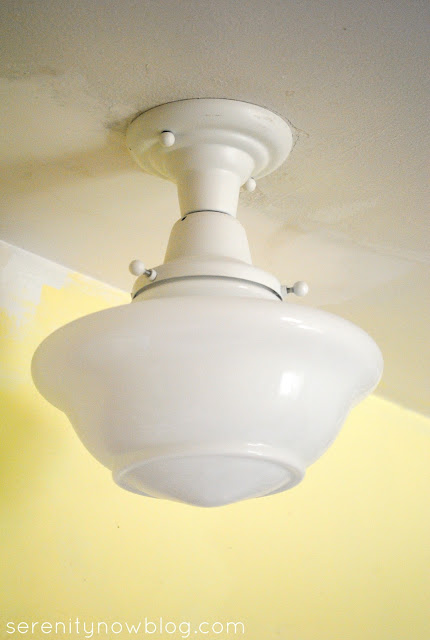 Kitchen Light Fixture Makeover with Spray Paint, Serenity Now blog