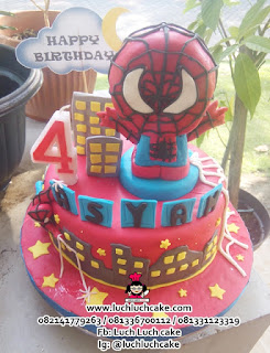Kue Tart Spiderman 3d Cake