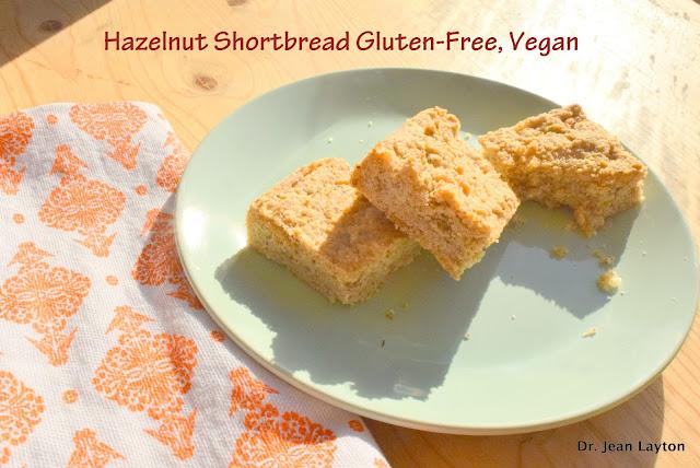 Hazelnut Shortbread Gluten Free, Vegan
