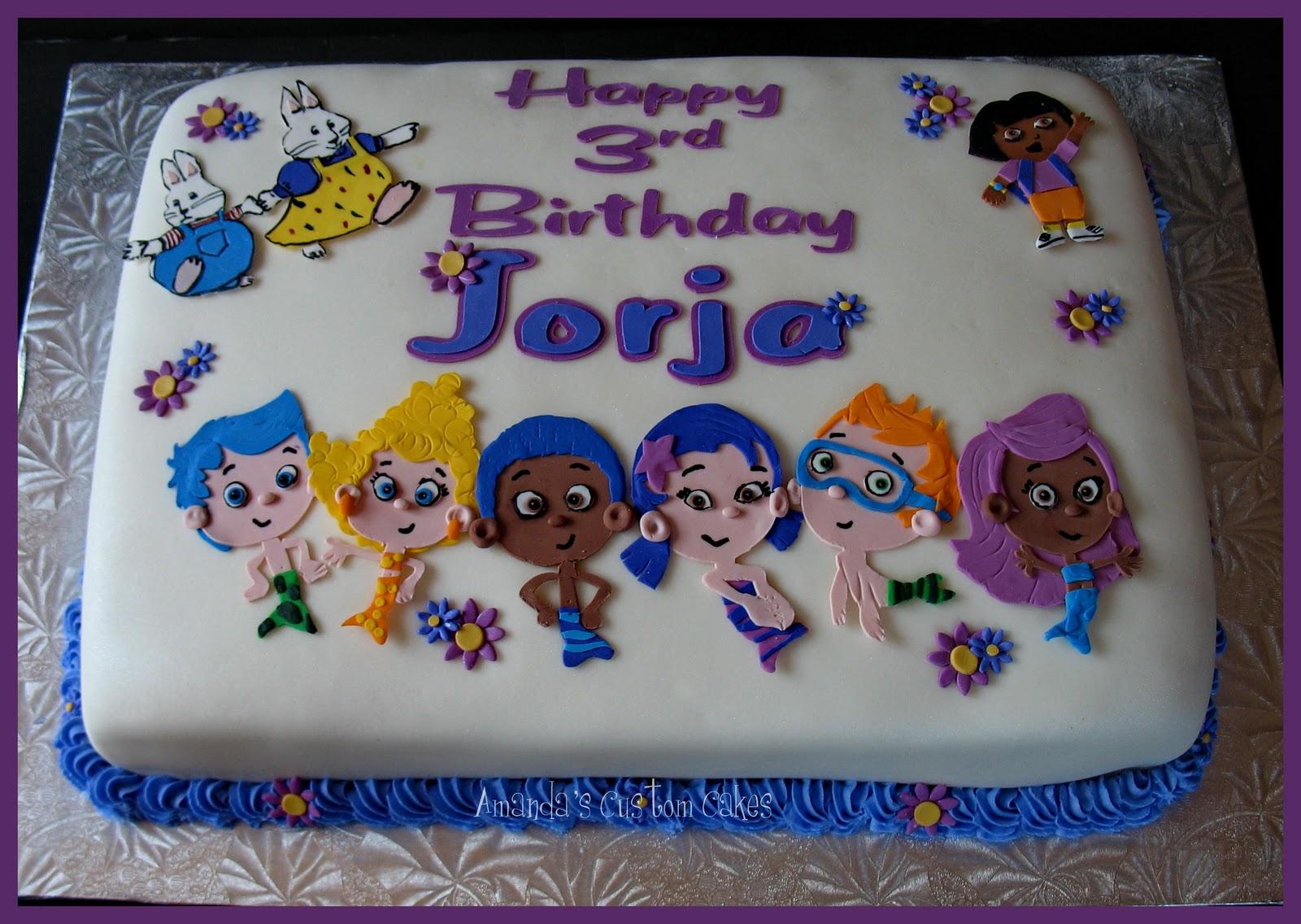 amanda u0027s custom cakes bubble guppies max u0026 ruby and dora cake