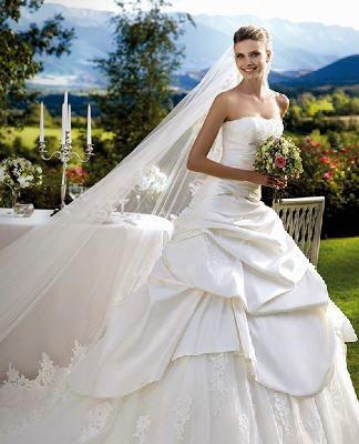 حصرى بالصور جديد فساتين زفاف عروس 2014