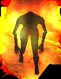 burning zombie dead frontier