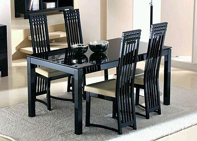 Muebles modernos de comedor de color negro for Comedores baratos bogota