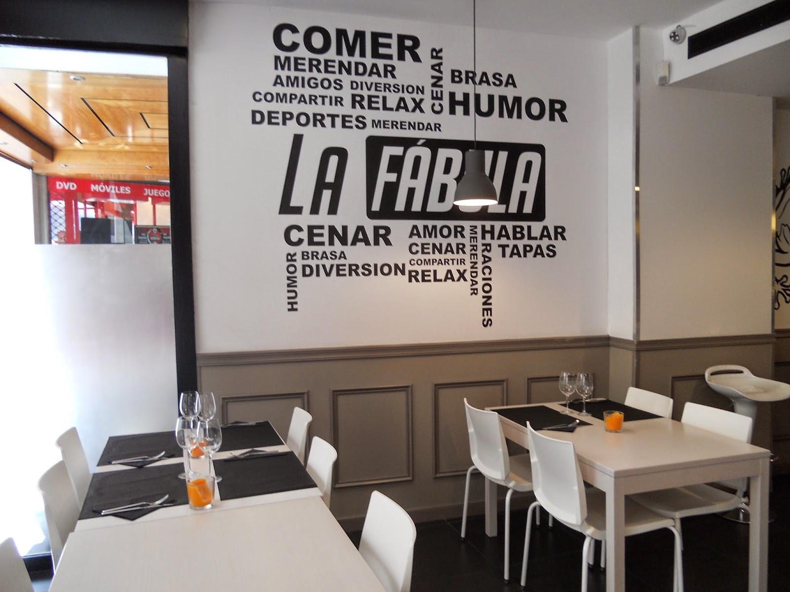 El paladar cr tico restaurante polivalente la f bula y for Frases de disenos de interiores