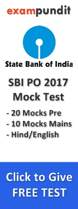 SBI PO Mock Test