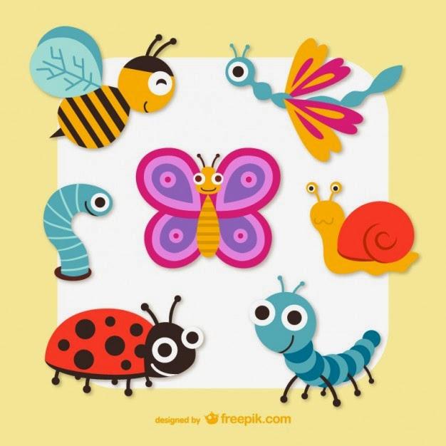 fotos, vectores, fotos gratis, vectores gratis, fotografías gratis, Gráficos vectoriales insectos lindos de la historieta