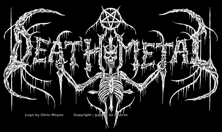 DEATH BY METAL by galeria de muerte: DEATH METAL logo by ...