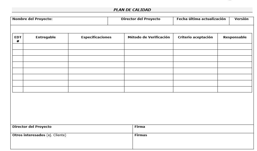Magnífico Plantilla De Plan De Gestión Bosquejo - Colección De ...
