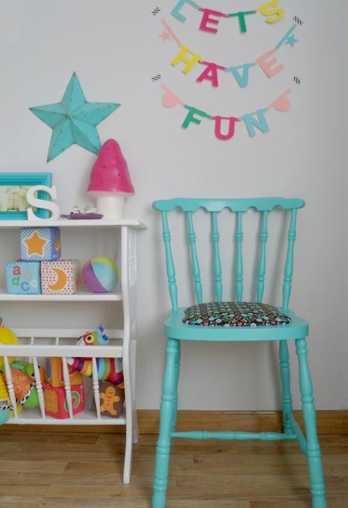 Lalole blog antes y despu s una silla turquesa - Restaurar sillas de madera ...