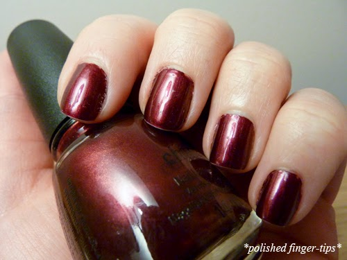 China Glaze Red-Y and Willing - Artificial Light