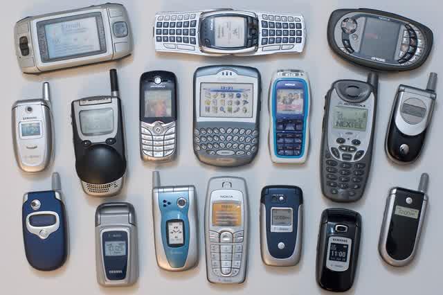 bentuk handphone jadul