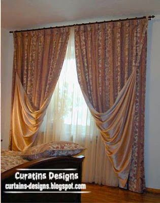 embossed curtain design for bedroom beige curtain Embossed curtain designs and draperies for bedroom, Luxury embossedcurtains