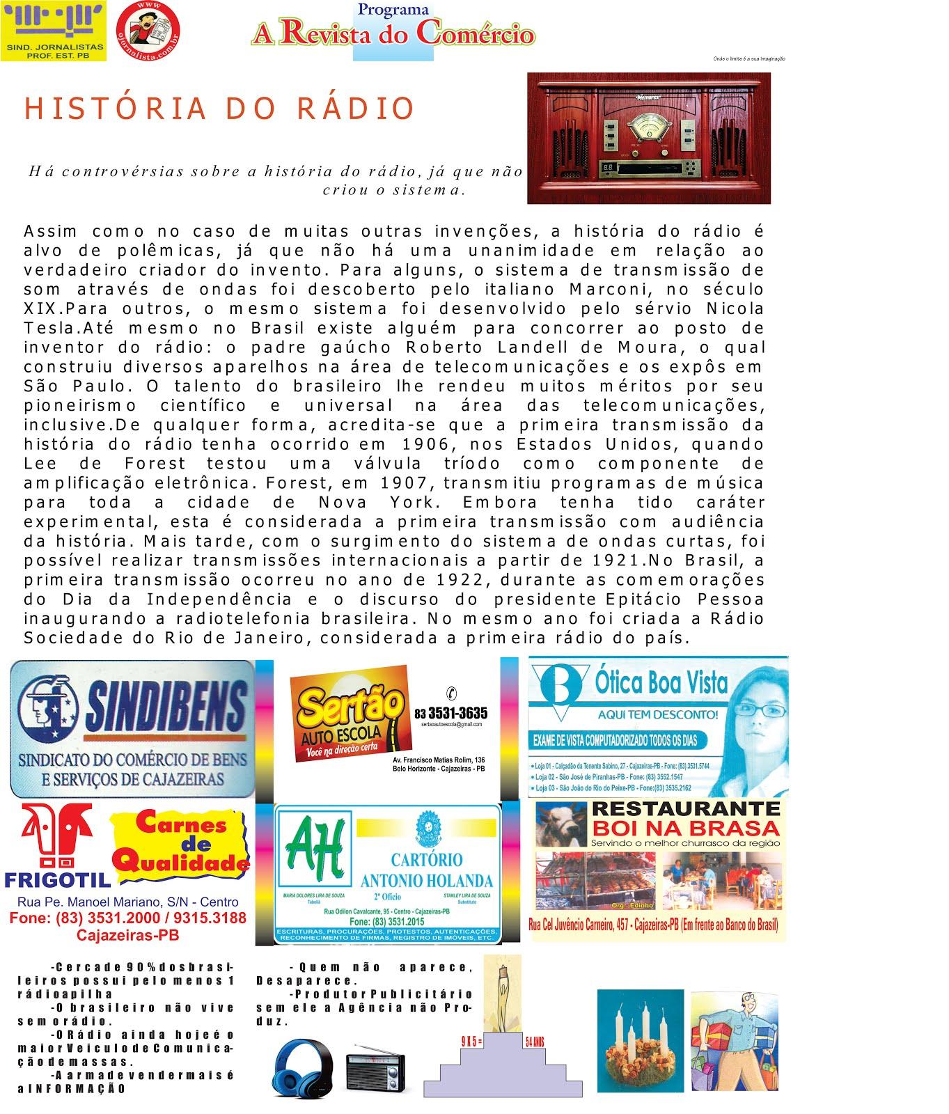 A HISTORIA  DO RÁDIO  LEMBRANDO BEM