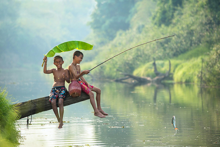 fishing kids