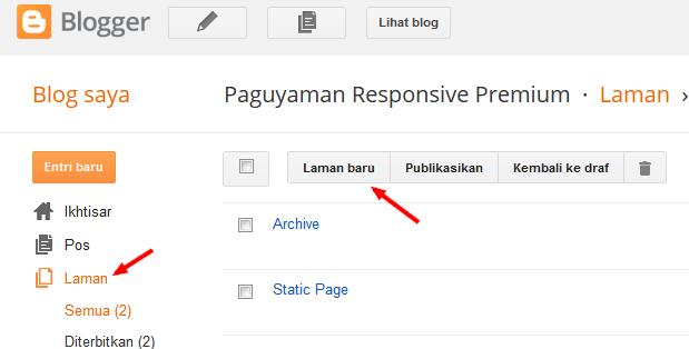 membuat daftar isi di blogger