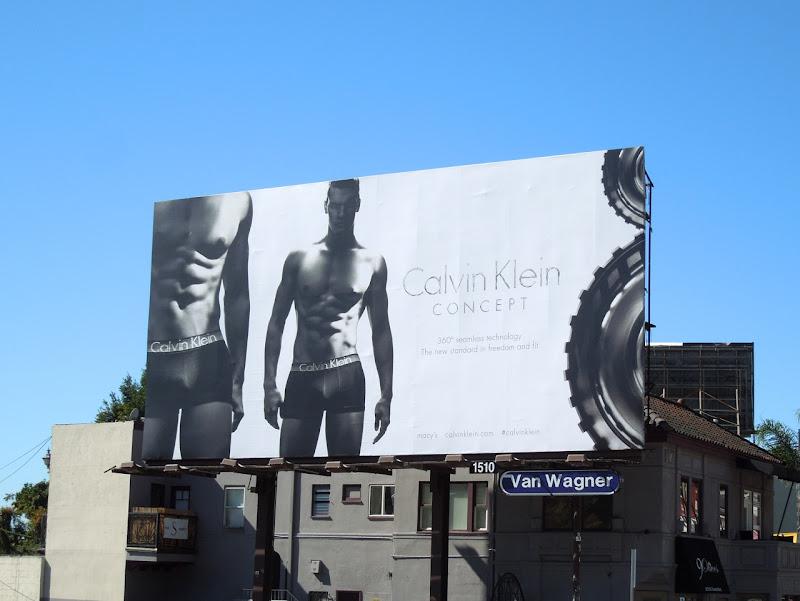 Calvin Klein Concept mens underwear billboard