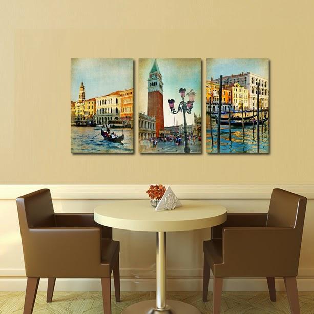 Tablou canvas din 3 piese, Venetia