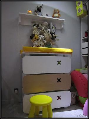 Commode enfant blanche et jaune