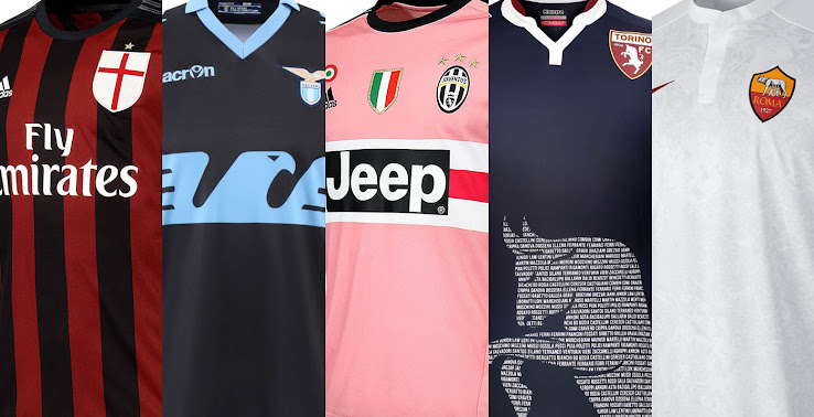 2015 16 Serie A Kits Special All 15 16 Serie A Jerseys In Pictures Footy Headlines