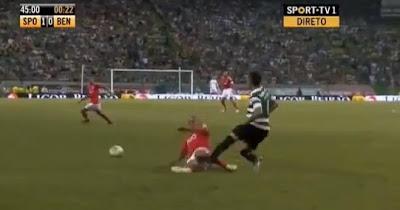 Entrada de Maxi Pereira sobre Jefferson - Sporting vs Benfica