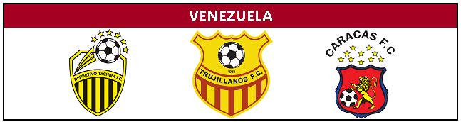 Classificados pra Libertadores da Venezuela