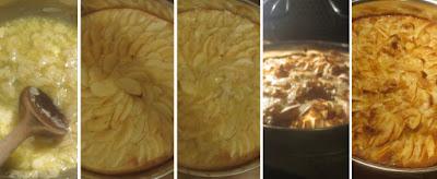 Zubereitung Apfelkuchen mit Mandelguss