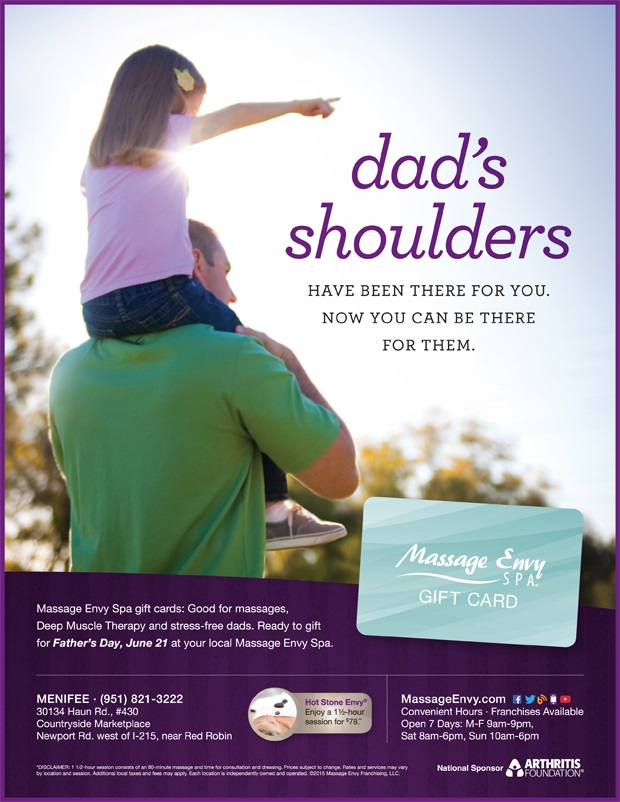 Massage Envy has Father\'s Day Specials   Menifee 24/7