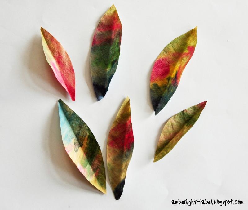 Herbstblätter aus Papier - hey Dresden