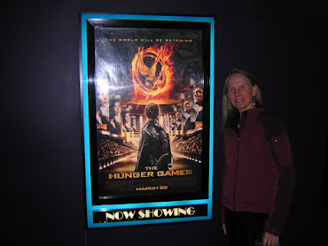Woman seeing Hunger Games