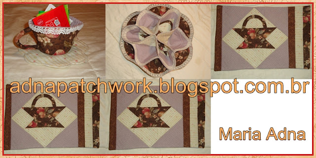 Patchwork tea towel kit, magazine published patchwork, Maria Adna, Patchwork-bolsas-e-afins, Patchwork publicado em revista, patchwork applique tea towel kit