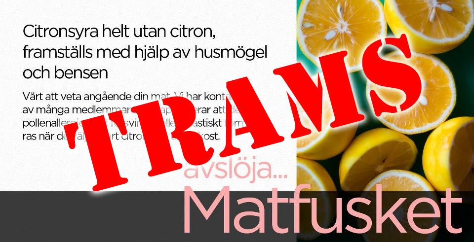 citronsyra finns i