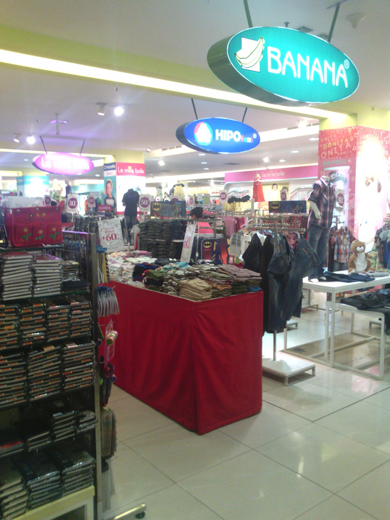 Clothes department of Moka Lampung