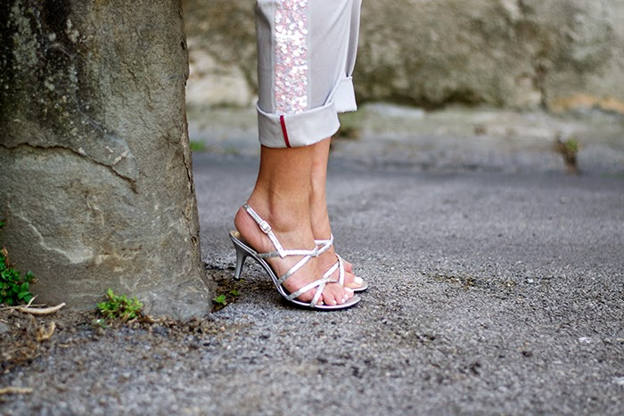 sandali argentati