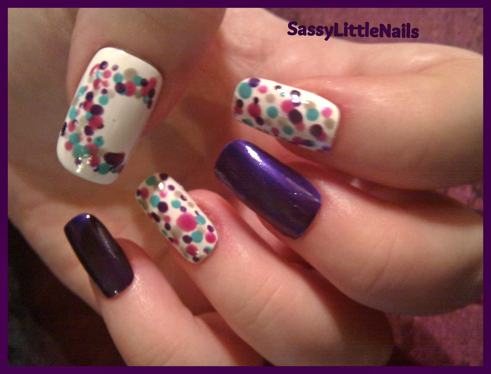 SassyLittleNails: Health/Disease Charity of the month nail art!
