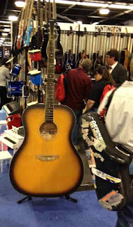 6 foot guitar NAMM 2012 image from Bobby Owsinski's Big Picture production blog
