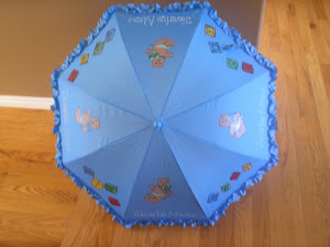 Parasol for a baby shower