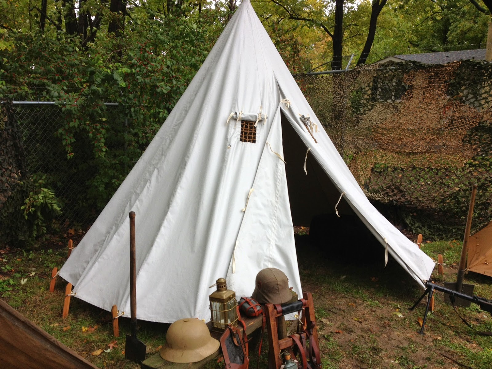 World war one tent pricing armbruster tent maker for Wood tents