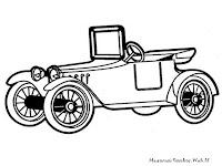 Halaman Mewarnai Gambar Mobil Antik