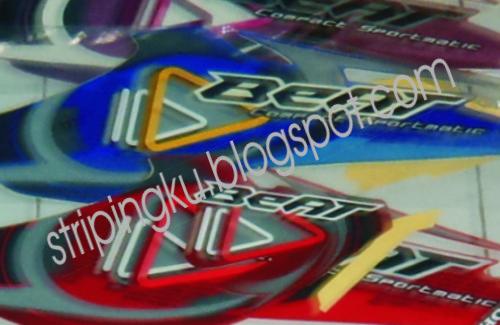 jual stiker striping motor: HONDA BEAT