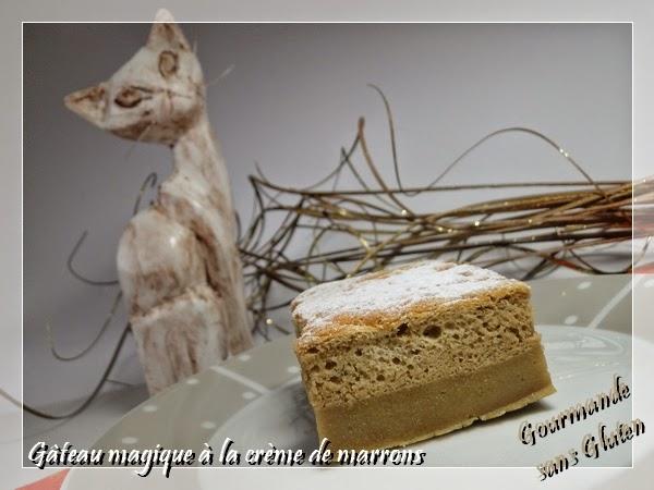 Gâteau magique à la crème de marron sans gluten