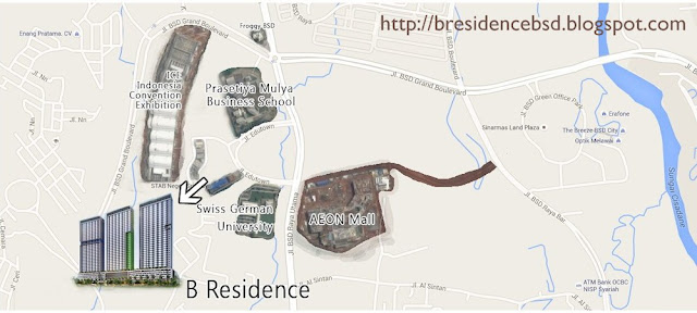 Peta Lokasi B-Residence BSD Apartment