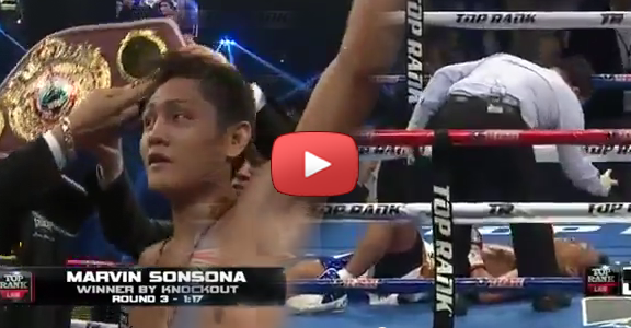 Marvin Sonsona Shocks, Knocks Out Shimoda (VIDEO)