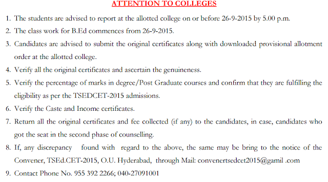 Ed.CET B.Ed Web Counselling Results