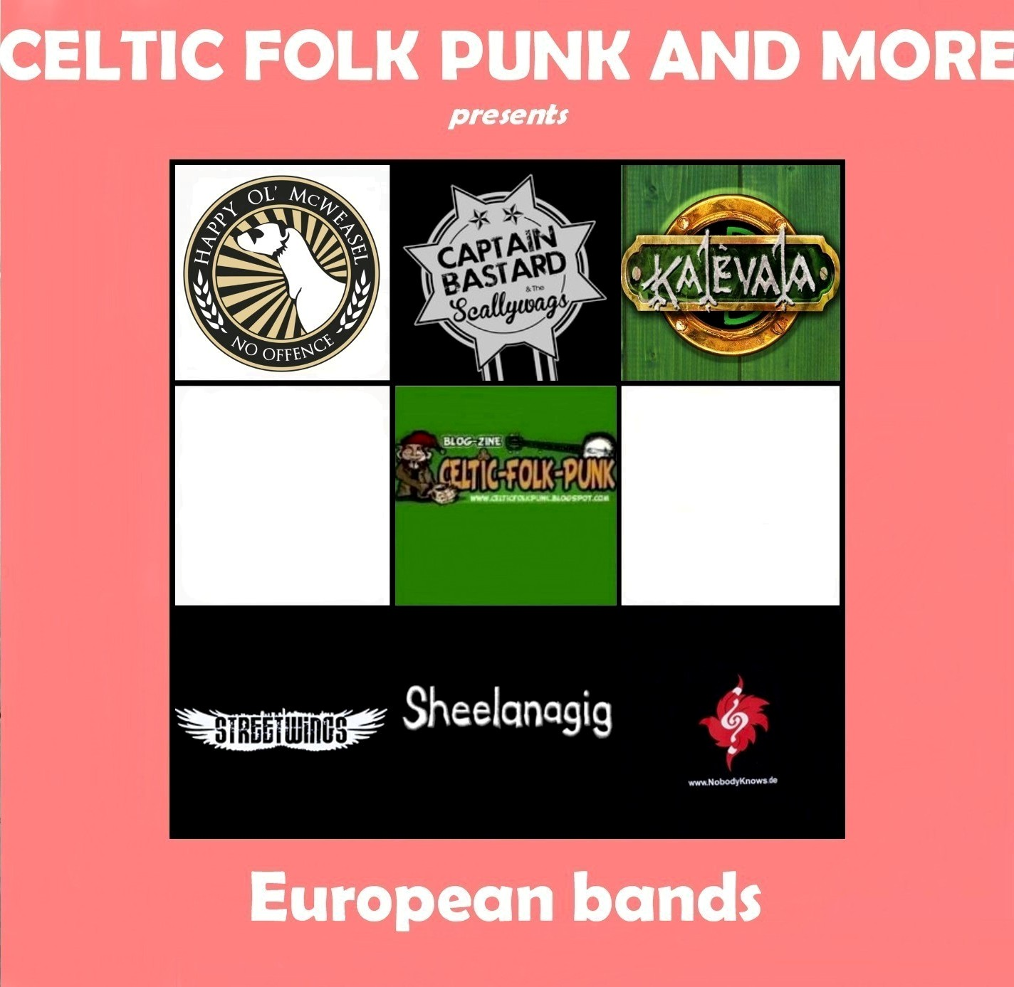 SAMPLER - MORE EUROPEAN BANDS ~ CELTIC FOLK PUNK AND MORE