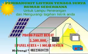 PROMO PLTS Sederhana Jabodetabek