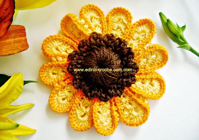 flores em croche cinco volumes com edinir-croche dvd video-aulas blog loja frete gratis